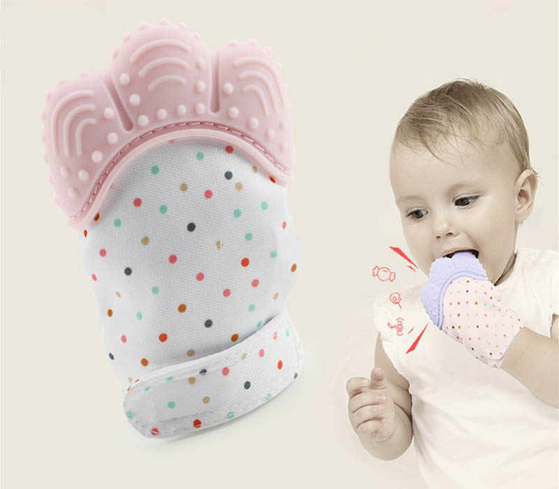 1 шт. силиконовый Прорезыватель для зубов Pacifier перчатка Прорезывание Зубов, жевательные новорожденный уход бусы-прорезыватели для младенцев без добавления бисфенола А пастельных 5 цветов