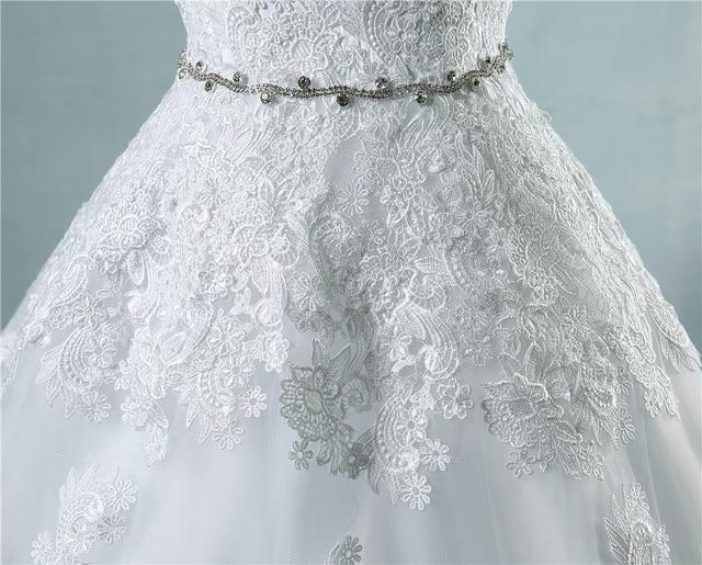ZJ9032 lace flower Sweetheart White Ivory Fashion Sexy 2019 Wedding Dresses for brides plus size maxi size 2-26W 5