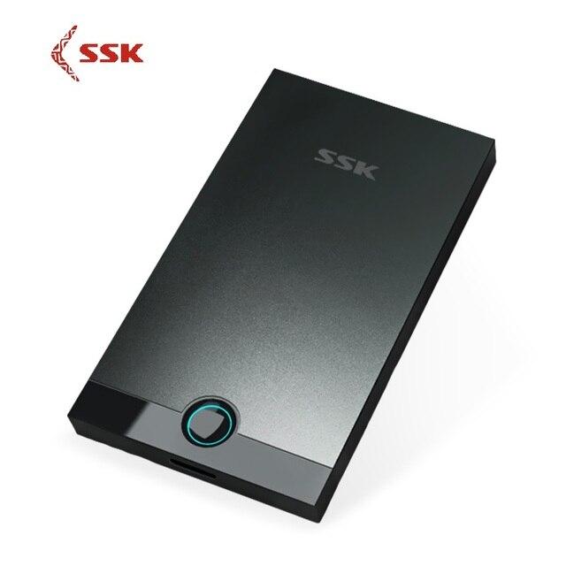 SSK SHE085 aleación de aluminio USB 3,0 HDD carcasa 2,5 pulgadas SATA USB HDD caja de disco duro externo disco duro USB HDD
