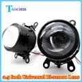 Taochis m6 carro 2.5 polegada oi/lo alta baixa feixe de luz de nevoeiro Lente do projetor Xenon Bi ESCONDEU H11 Lâmpadas de Cristal Claro Assembléia Farol de Neblina
