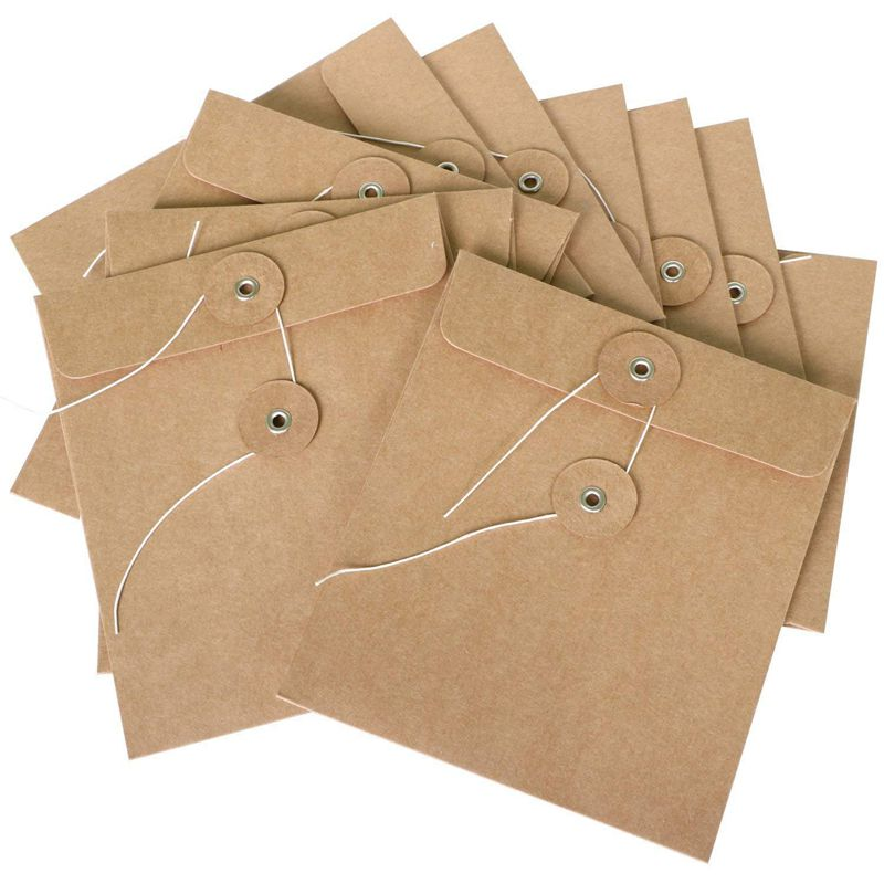HOT-10 Pack Carton Envelopes Made From Brown Cardstock Also Available As Cd Case Bags