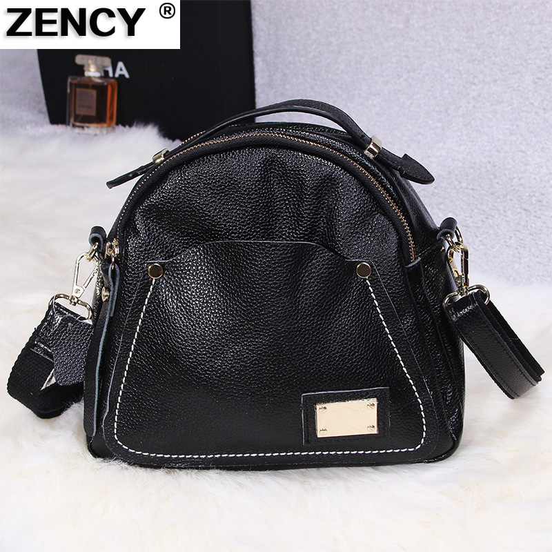 ZENCY 100% Genuine Leather Luxury Famous Brand Fashion High Quality Women Shoulder Bag Ladies Designer Messenger Bags Handbag safebet 2018 fashion shoulder bag high quality designer luxury women 100% genuine leather genuine leather waterproof handbag