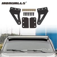 Ironwalls 54 LED Curved Light Bar Upper Windshield Mounting Brackets Mounts For Chevrolet Silverado 1500 2500