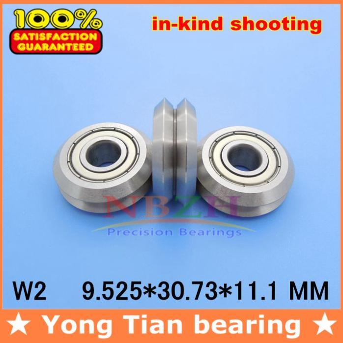 RM2ZZ / W2 9.525*30.73*11 mm v wheeles W Groove Sealed Ball Bearing 10pcs/lot msd3463gu w2
