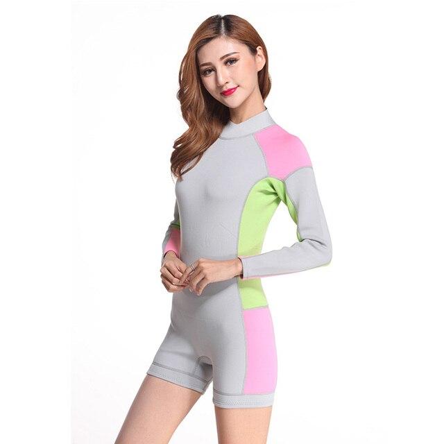c5589722dfee 2mm neoprene wetsuit lady suit short swim wetsuit set surfing suit women  scuba wetsuit diving femal S M L XL XXL All size