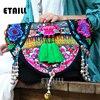 Hmong National Vintage Embroidery Bag Boho Embroidered Flower Embroided Bag Sac Femme Bordado Bolsa Sac Besace