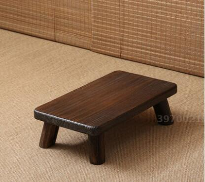 Solid Wood Small Square Table Japanese Style Bay Window Antique Small  Coffee Table Floor Short Coffee Table In Coffee Tables From Furniture On ...