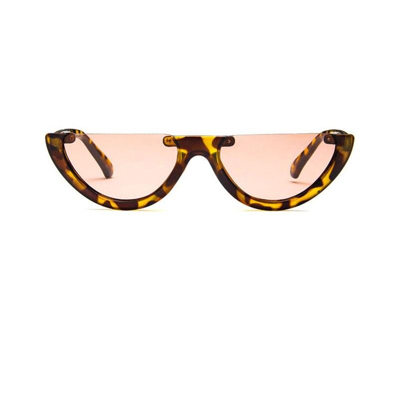 734a408bf9920 Sunglasses Cool sunglasses Trendy Half Frame Rimless Cat s Eye Sunglass  Women 2018 Fashion Clear Brand Designer Sun glasses