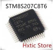 Free Shipping NEW 10PCS STM8S207C8T6 STM8S207 LQFP-48