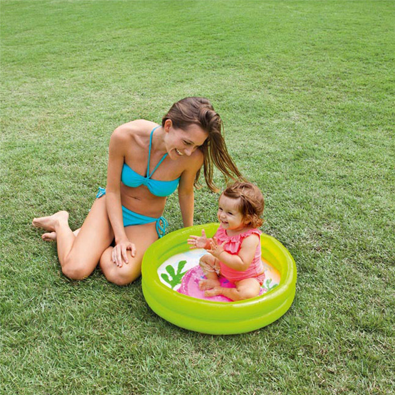 Random Baby Toddler Paddling Pool 2 Ring Small 61cm Child Mini Inflatable Kid 61x15cm