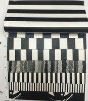合成pu黒と白のストライプレザー素材
