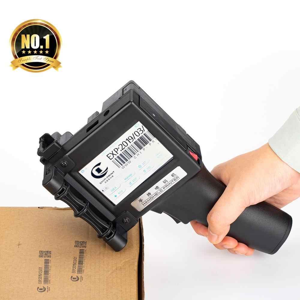 Impressora de etiquetas 600 dpi handheld portátil código de barras qr impressora a jato tinta código para plásticos vidro madeira cosméticos