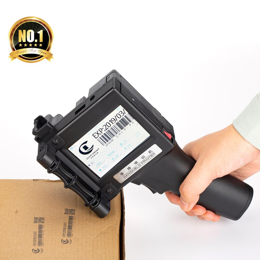 Label Printer 600DPI Handheld Portable Bar Code QR Code Inkjet Printer For Plastics Glass Wood Cosmetics