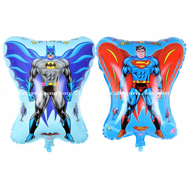 2pcs/lot 45*55cm mix cartoon hero toy balloon Superman and Batman balloon child birthday party decorations scene arrangement