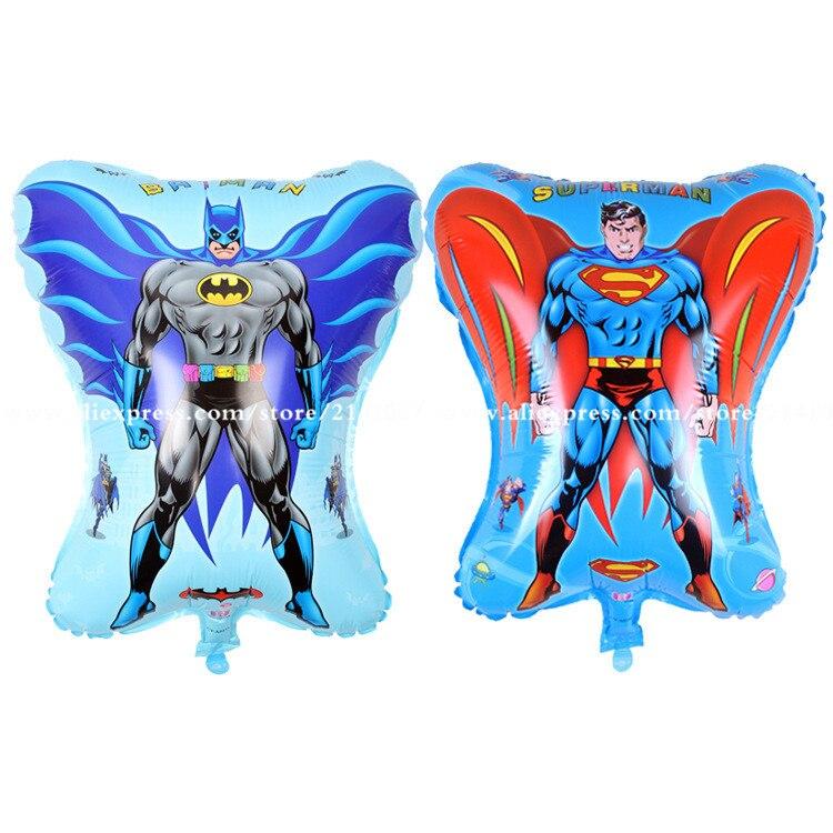2pcs/lot 45*55cm mix cartoon hero toy balloon Superman and Batman balloon child birthday party decorations scene arrangement