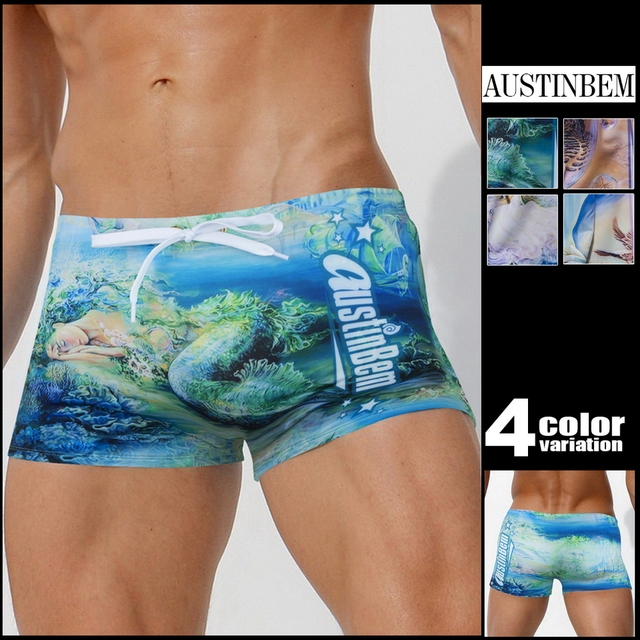 AustinBem Swimwear Men The Mythological Printing Swim Short Gay Men Swim Briefs 237