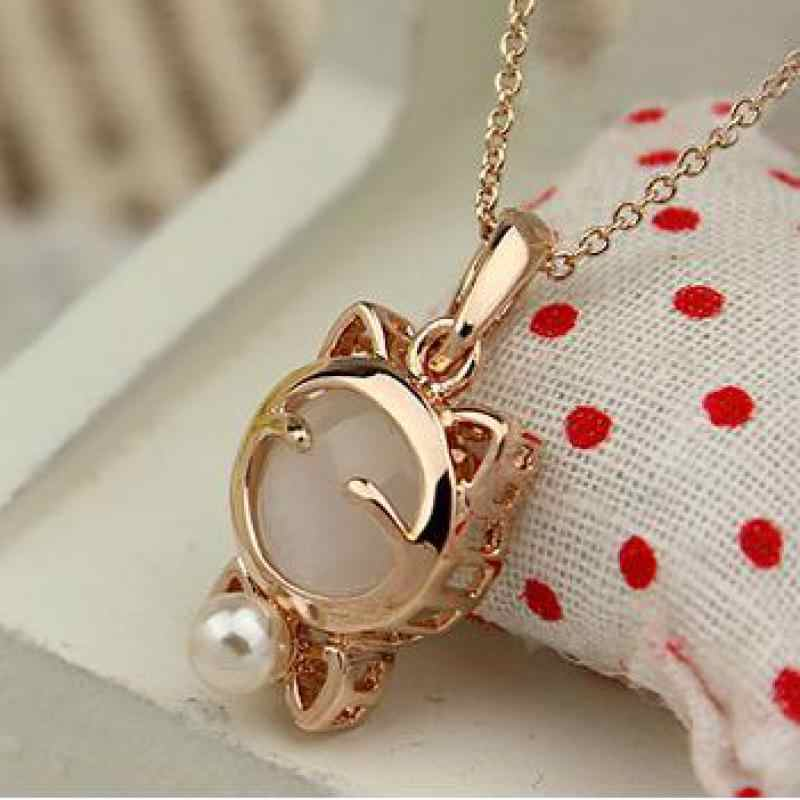 Free Shipping 2018 Latest Fashion Super Meng Cute Lucky Cat Eyes Mr. Shi Clavicle Chain Necklace Jewelry Factory Direct