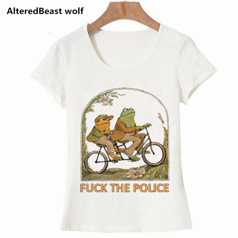 Frog and Toad All Year Book Study cute women   t     shirt   new arrival cartoon printed   t     shirt   2019 fashion streetwear casual tops tee