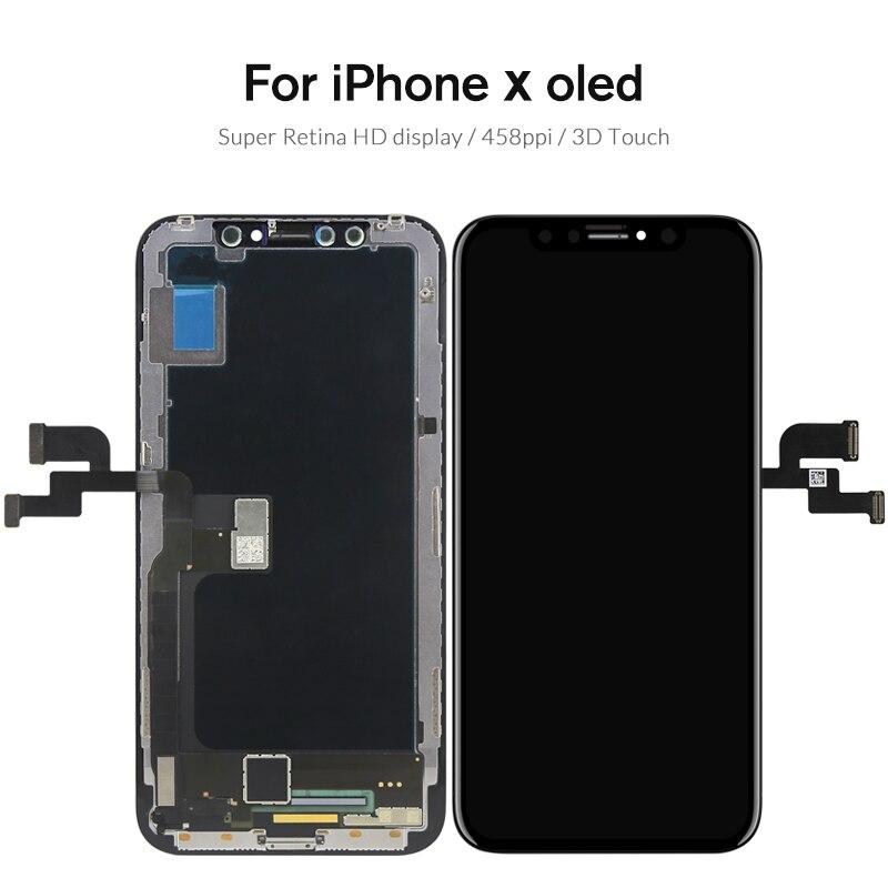 Qualité Pour iPhone X S Max XR écran lcd Pour Tianma AMOLED OEM écran tactile Avec remplacement du numériseur pièces d'assemblage Noir - 2