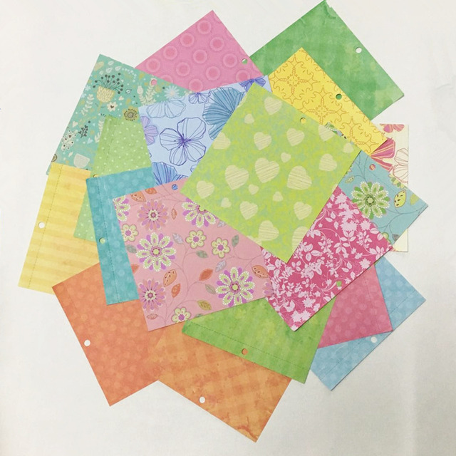 New Style 6inch Colorful Blooming Flower Pattern 18sheetsdiy