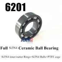 Free Shipping 6201 SI3N4 Full Ceramic Ball Bearing SI3N4 201 BEARING 12 32 10 Mm