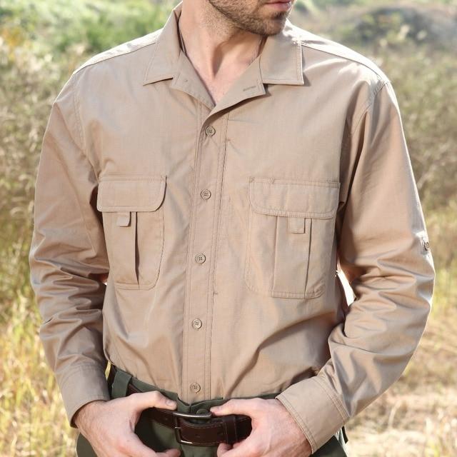 1fe355ed4ca Seibertron Pro Waterproof Long Sleeve Lightweight Tactical Shirt Outdoor  Sport Cotton Hiking Shirt Full Man Quick Dry Clothing