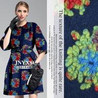 Blue Fireworks Flower High End Fleeciness Sense Of Three Dimensional Flowers Cashmere Wool Fabric M 100cm