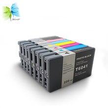 220 ml T6121 T6128 T6222 T6123 T6124 Descartável Cartucho de Tinta Compatível, Para Epson 7400 9400 7450 9450 Printer