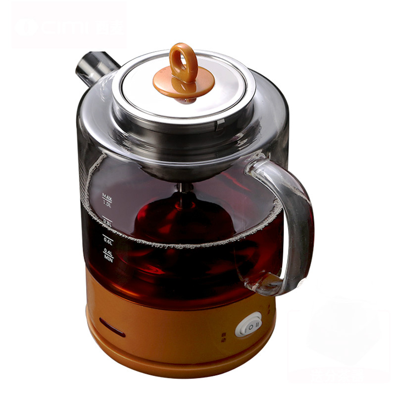 Electric kettletea maker black tea glass electric kettle full automatic steam hot brew teapot brew tea ware black teapot full automatic electric mini steam tea electric kettle