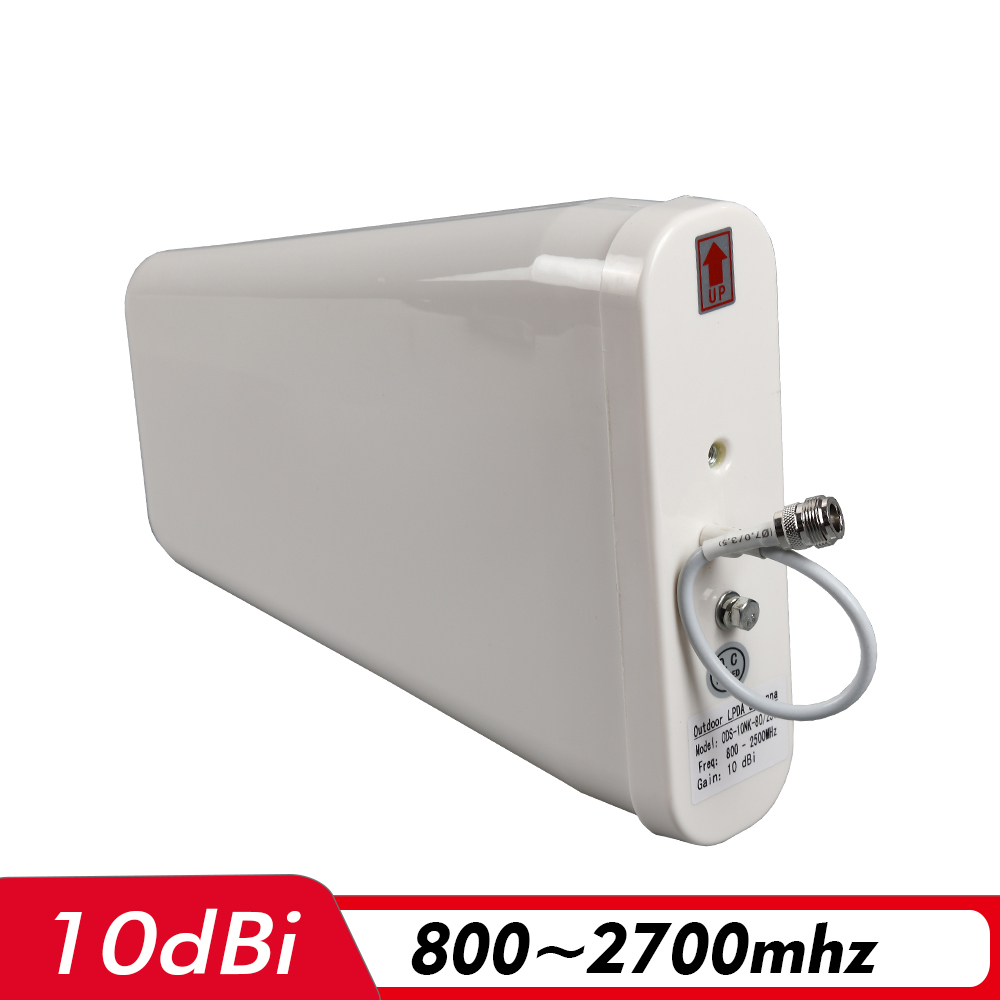 800~2700MHz Outdoor LPDA Antenna N-Female 0.3m 10dBi Gain External Antenna For 2G 3G 4G Mobile Signal Repeater Cellular Booster