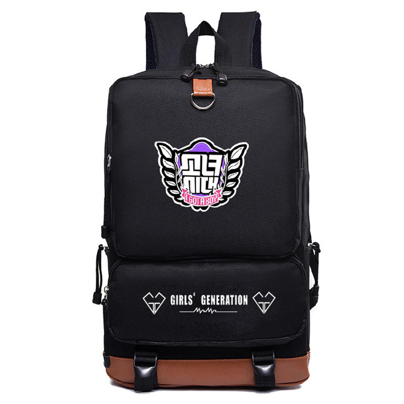 2018 New Arrivals SNSD Girls Backpacks Fashion Nylon School bags Backpack Satchel bag Mochila Knapsack Mochila Laptop bag snsd tiffany autographed signed original photo 4 6 inches collection new korean freeshipping 012017 01