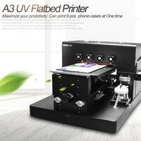 A3 UV Printer UV Flatbed Printer Phone Case Printing Machine for Phone Case, T shirt, leather,TPU case printer New Upgrade