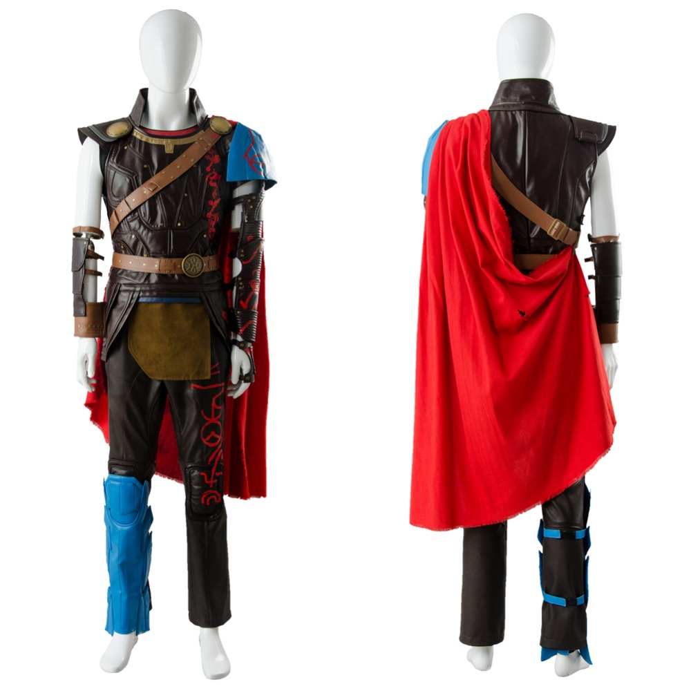 Hot Sale Cosplay Thor 3 Ragnarok Costume Thor Outfit Whole Set Halloween Party Cosplay Costume Adult Women Men