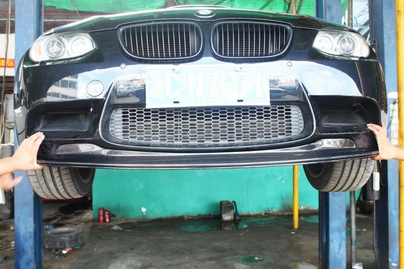Car Accessories FRP Fiber Glass GTS II Style Front Lip 2pcs Fit For 2008-2012 E90 E92 E93 M3 Front Bumper Lip