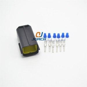 Darmowa wysyłka 10 zestawów 6pin Tyco Amp obudowa złącza męskiego wtyczka elektryczna wodoodporne złącze samochodowe 174264-2