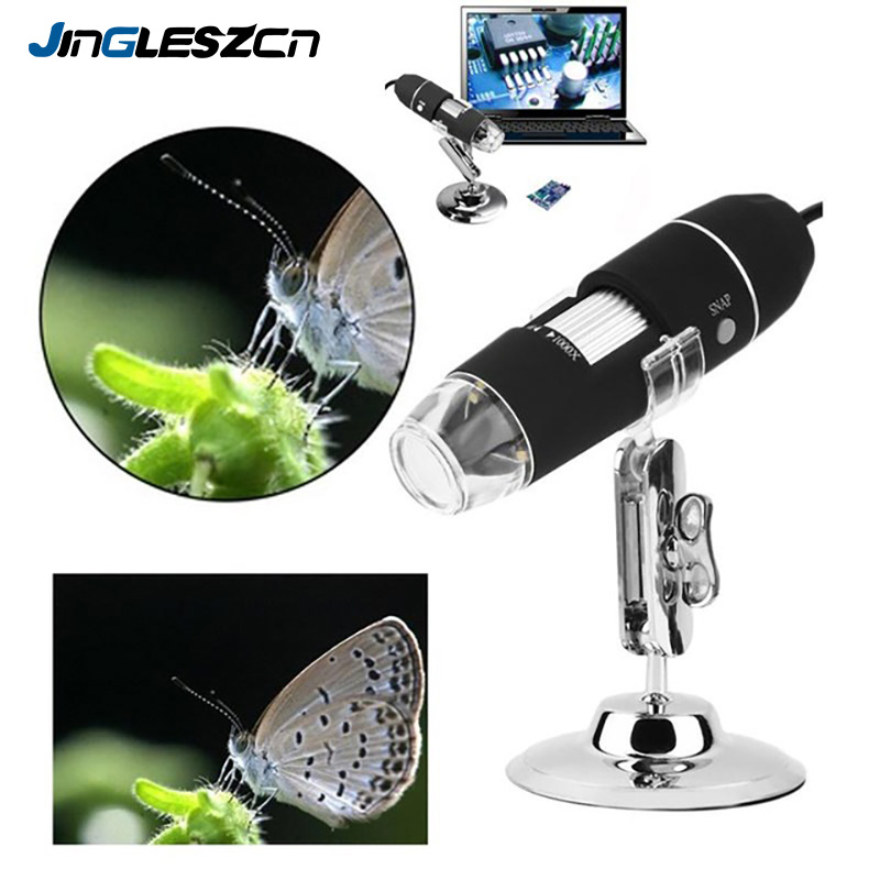 1000X 800X 500X 200X Usb Digital Microscope USB Endoscope Camera Microscopio Magnifier With 8 LED lights