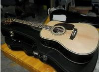 Guitar factory custom D 45 acoustic guitar life tree inlay fret solid spruce wood top guitar With fisherman with hardcase