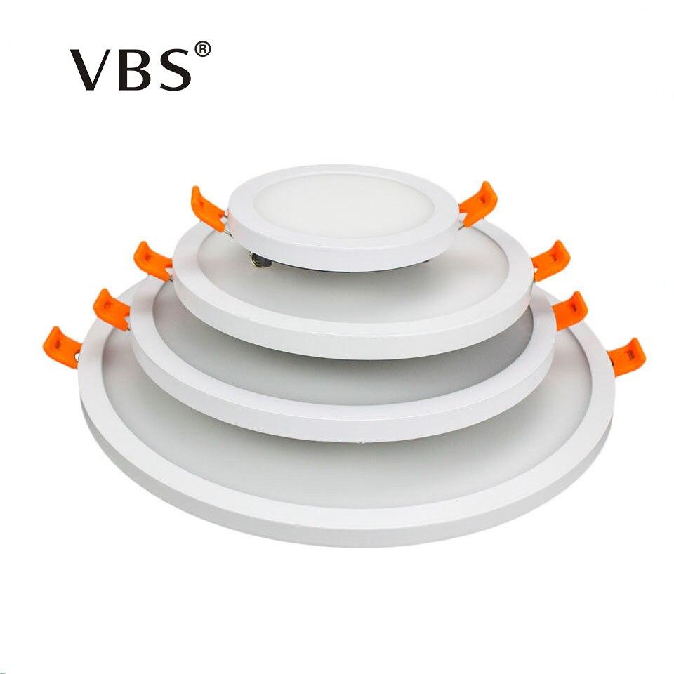 Cadre étroit LED Panneau Lumineux 6 w 12 w 18 w 24 w Ultra Mince A MENÉ Le Downlight De Plafond Rond/ carré Cadre Mince Panneau Lumineux Blanc Froid/Chaud