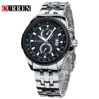 Famous CURREN Watches Men Quality Brand Military Wrist Watches Full Steel Men Business Watch Waterproof Relogio
