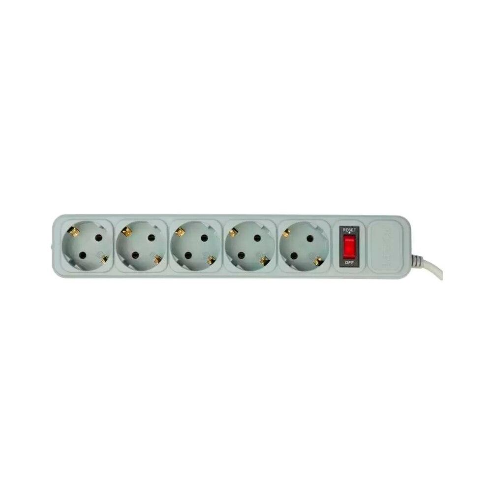 Surge Protector PC Pet AP01006-5-GR Consumer Electronics Accessories & Parts Electrical Socket & Plugs Adaptors surge protector pc pet ap01006 3 bk consumer electronics accessories