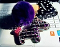 Caballo llavero nueva lindo Crystal Horse muñecas cadena dominante del coche de cuero mujeres creadoras del encanto del bolso colgante
