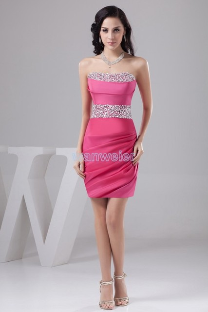 free shipping 2018 new design knee-Length formal gown sexy beading red  short bridesmaid dresses 8ada86cdc3b9