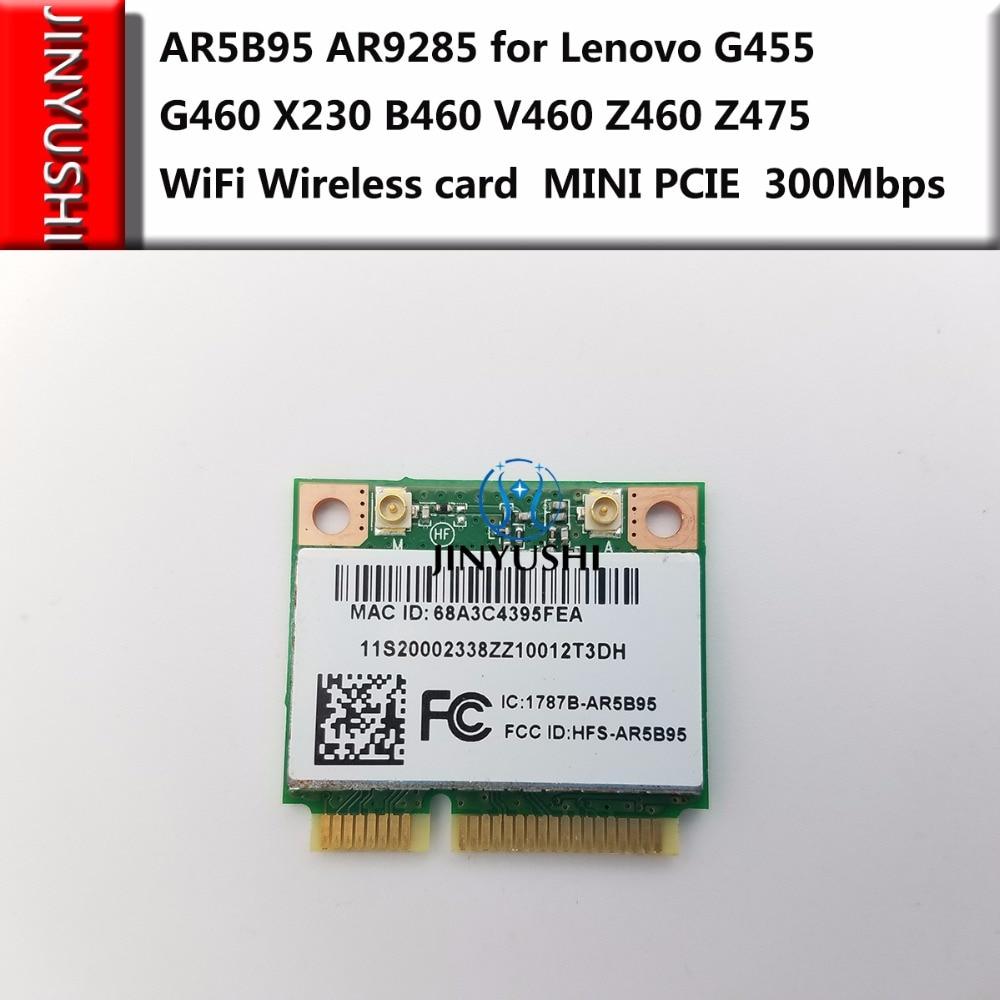 AR5B95 AR9285 For Lenovo G455 G460 X230 B460 V460 Z460 Z475 WiFi Wireless Card Mini Pcie