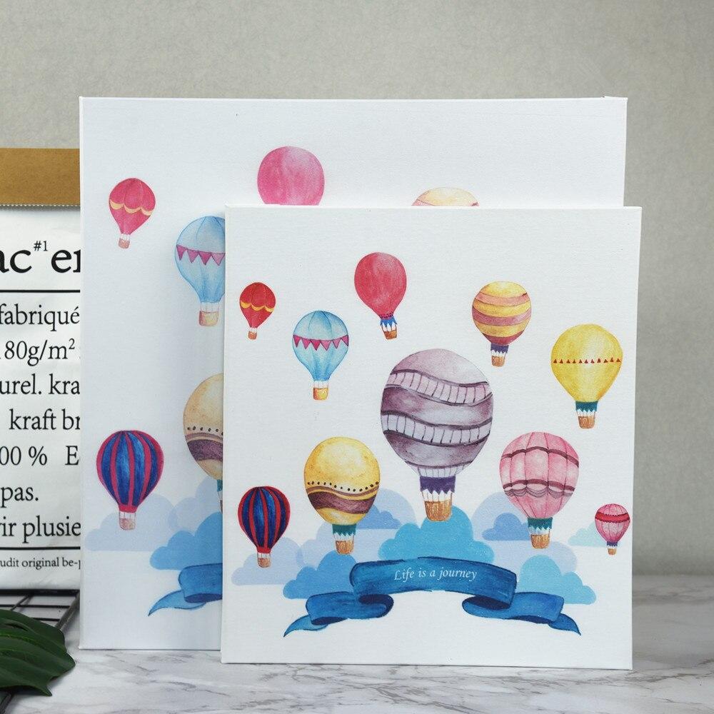 2018 nouveau créatif pu cuir enduit famille auto-adhésif photo album bricolage manuel album amoureux amour bébé souvenir livre