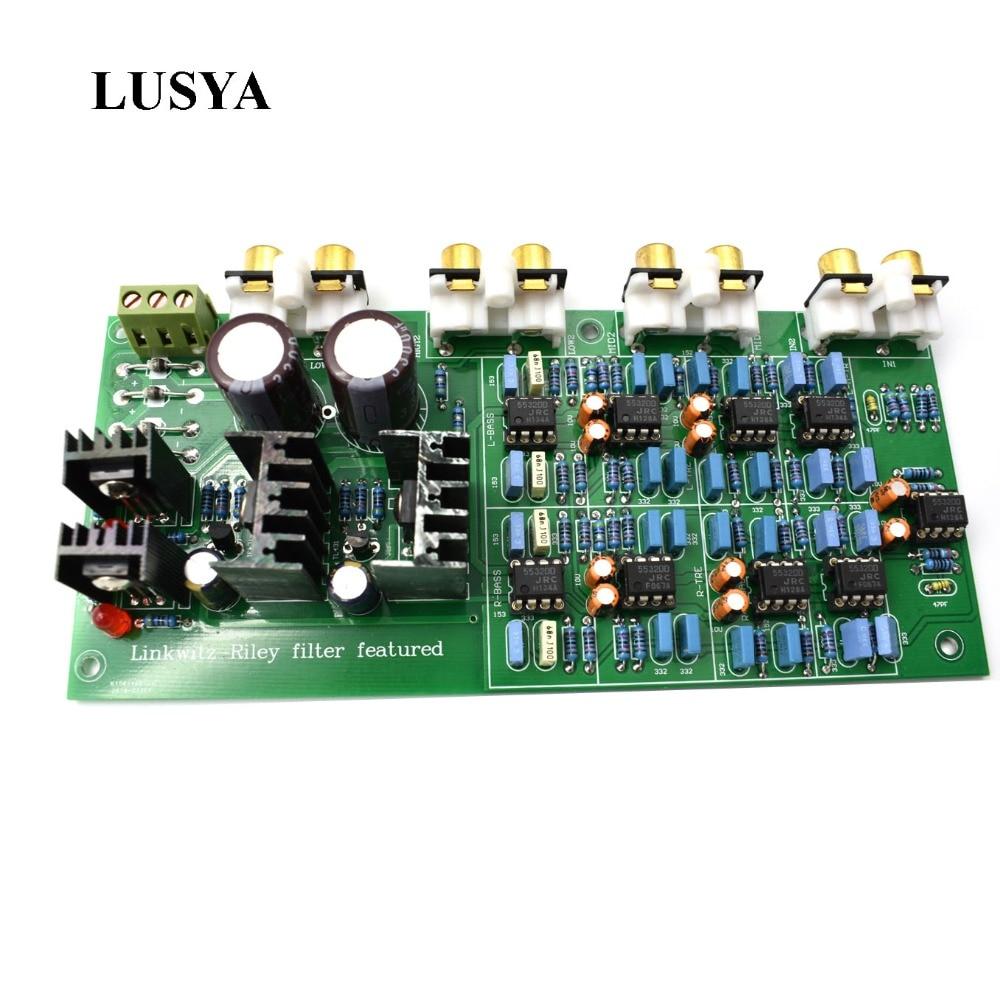 Lusya 3 Way Crossover PCBA ClassA Power Linkwitz-Riley filter 6-Channel Crossover-point 310HZ/3.1KHz  G1-004Lusya 3 Way Crossover PCBA ClassA Power Linkwitz-Riley filter 6-Channel Crossover-point 310HZ/3.1KHz  G1-004
