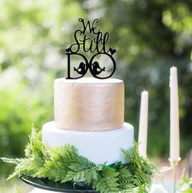 Anniversary Party Cake Decorating Black Acrylic \
