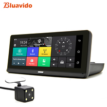 Bluavido 8 «ips Автомобильный dvr gps 4 г Android навигация ADAS Full HD 1080 P Dash камера двойной объектив Автомобильный видео рекордер дистанционный живой монитор
