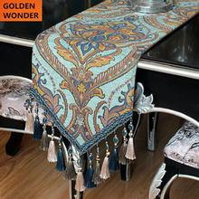 European Style Luxury Chenille Thick Table Runners Modern Bed Decoration High Quality Runner