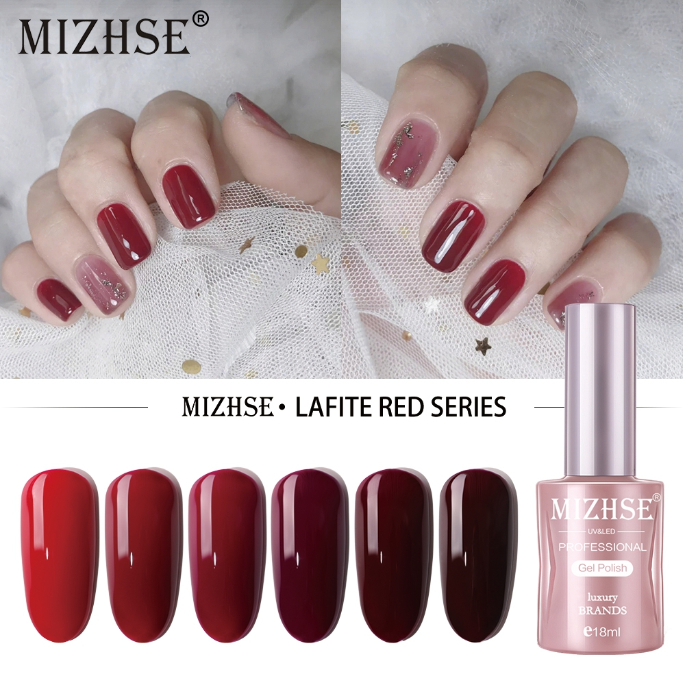 MIZHSE 18ML Gel Polish Set All For Manicure Semi Permanent Vernis top coat UV LED Gel Varnish Soak Off Nail Art Gel Nail Polish