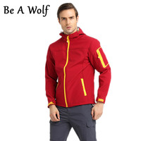Be A Wolf Softshell Hiking Jackets Men Women Outdoor Fishing Hunting Clothes Camping Skiing Jacket Windbreaker